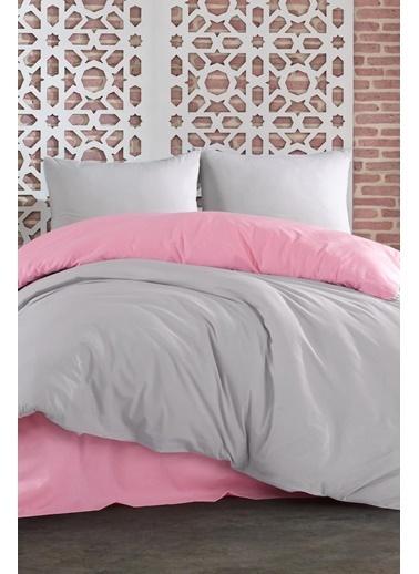 Lady Moda Silver Pink Çift Kişilik Nevresim Takımı Renkli